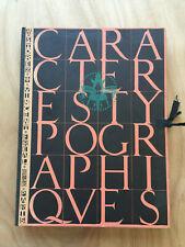 Caractères typographiques, M. Storez, Vincent-Freal Editions