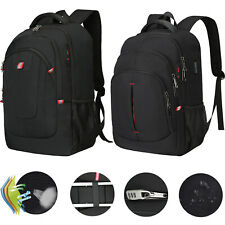 "15.6"" 17.3"" Men Laptop Backpack Waterproof Anti Theft Travel School Shoulder Bag"
