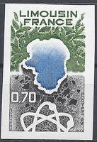 FRANCIA REGIÓN LIMOUSIN Nº1865 SELLO NO DENTADO IMPERF 1976 NEUF MNH