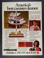 1982 Hoover Celebrity QS Canister Vacuum Cleaner vintage print Ad
