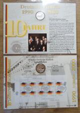 Numisblatt 4 / 2000 10 Jahre Deutsche Einheit DM 10 Silber Gedenkmünze Bestzusta