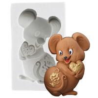 Süße Maus Seife Silikonform Schokoladen Fondantform DIY Küche Kuchen DekoYE