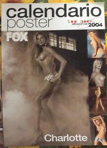 Calendario Poster 2004 FOX UOMO CHARLOTTE Cardo top model selection