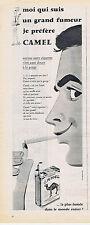 PUBLICITE ADVERTISING 084 1956 CAMEL cigarettes américaines