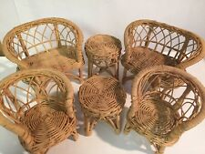 New listing Vintage Barbie Wicker Furniture Set (6) Pieces