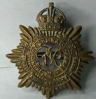 WW2 RASC Royal Army Service Corps brass Cap Badge 2 lug 41 x 46 mm