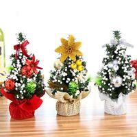 20cm Mini Christmas Tree Desk Table Decor Small Party Ornaments Xmas Gift