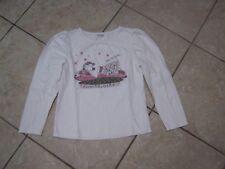 Vertbaudet Langarmshirt Mädchen Gr. 126,128,Pullover,Pulli, Shirt,weiß,