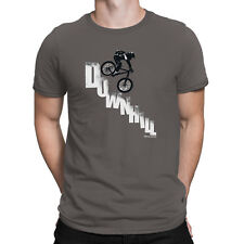 Mens DOWNHILL Mountain Bike T-Shirt Cycling MTB Cycle Funny Birthday Gift