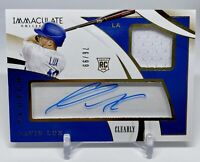 2020 Panini Immaculate GAVIN LUX Clutch Clearly Rookie Patch Autograph #/99