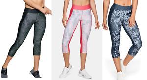 Under Armour UA Women's Heat Gear Print Capri Gym Running Leggings - New