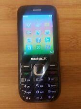 Nuevo Sonica 230 Fácil Básico jubilados Móvil Smartphone en negro Barato