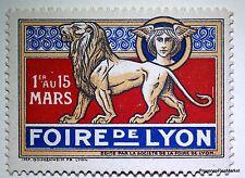 1916 CINDERELLA TIMBRE VIGNETTE FOIRE DE LYON  FRANCE 1er 15 MARS NEUF** LO302