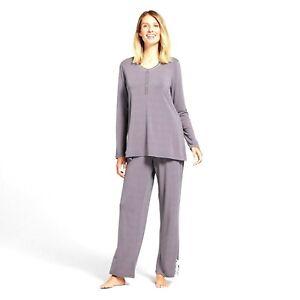 Lamaze Womens Maternity Nursing Long Sleeve 2 Piece Pajama Set Size XL