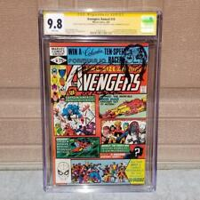 AVENGERS ANNUAL #10 CGC 9.8 WHITE PAGES SS 2x Signed & Sketch 1st Rogue X-Men 1