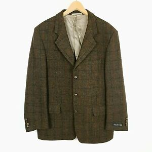 Mens Harris Tweed Blazer Jacket Michael Kaiser Size 44L  #GH46