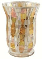 Yankee Candle Gold Wave Mosaic Large Jar Holder NEW