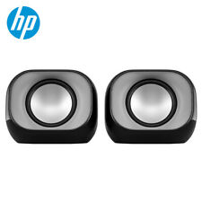 HP DHS-2111 Mini Speaker for PC Laptop USB+3.5mm Wired Stereo Bass Subwoofer