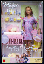 """Pregnant Midge & Baby Happy Family Barbie Doll Mom and Baby Bump NRFB VG """""""
