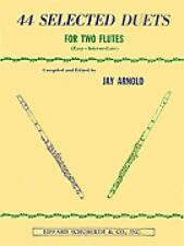 44 Selected Duets for Two Flutes Book 1 Easy Intermediate Book New 000510553
