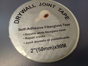 "Westward Fiberglass Mesh 90 M x 2"" White Self Adhesive Drywall Joint Tape New"