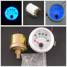 DC12V 0.3A Blue LED Auto Car Oil Pressure Meter Gauge 0~100PSI Sensor For Holden