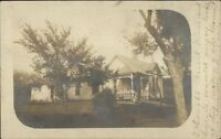 Hebron NE Cancel & Message - Home c1910 Real Photo Postcard