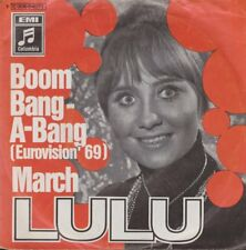 "LULU Boom Bang-a-Bang (Eurovision' 69)/March EMI Columbia 7"""