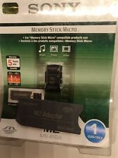 New Sony 256mb M2 Memory Stick Micro with Adaptor for K800i W580i W995
