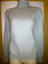 Jones New York womens M 8 10 gray wool angora thin knit top turtleneck sweater