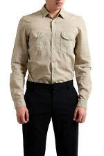 Just Cavalli Men's Multi-Color Plaid  Button Down Casual Shirt US S IT 48