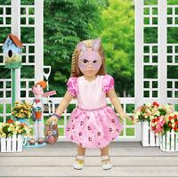 Fashion Pink Doll Clothes Princess Dress Fit Dolls