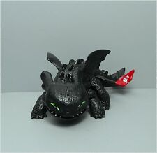 How to Train Your Dragon TOOTHLESS Night Fury Shoots Fireball Dragon Figure 9CM