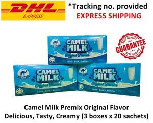 Camel Milk Premix Original Flavor Delicious, Tasty, Creamy (3 boxes x 20 sachet)