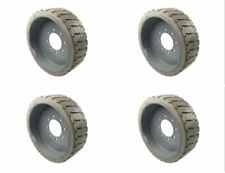 Set of 4 Solid Forklift Tires for Genie Front 94908 Rear 94909