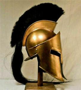 300 SPARTAN HELMET KING LEONIDAS MOVIE REPLICA HELMET MEDIEVAL HELMET WITH STAN