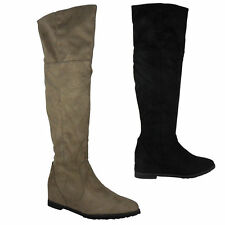 Zip Patternless Faux Suede Casual Boots for Women