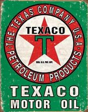 NEW Texaco Motor Oil Petroleum Products Weathered Tin Sign Garage Shop Gift USA
