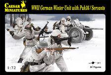 Caesar 1/72 WWII German Winter Unit w/ Pak36 / Servants (8 Figures) Soldier H097
