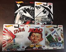 Mad Magazine * 5 Car Set * 2017 Pop Culture Case K * Hot Wheels A100, 55 Panel