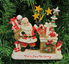 KURT S. ADLER RETRO SANTA CLAUS NEXT TO CHIMNEY w/ GIFTS CHRISTMAS TREE ORNAMENT