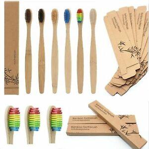 Eco Friendly Bamboo Toothbrush Natural Biodegradable Wood Medium Bristles Adult