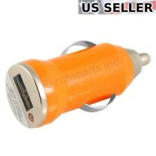 (2-Pack) Mini Universal USB Car Charger Adapter Bullet, 5V 1A, Orange