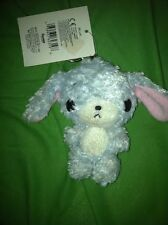 NWT Sanrio Sugarbunnies Blue Plush Doll Keychain Vintage