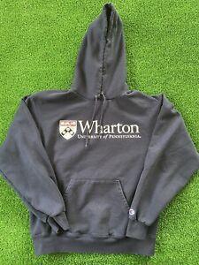VTG Champion Hoodie Wharton University Of Pennsylvania Sweatshirt Hoodie Men's M