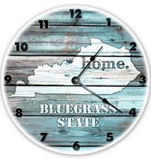 "12"" KENTUCKY TEAL RUSTIC LOOK CLOCK - Large 12 inch Wall Clock - Printed Decal"