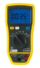 Chauvin Arnoux C.A 5231 Multimeter. Equivalent to Fluke 114 cw Test Certificate