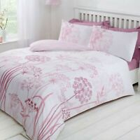 Duvet Cover Set - Super King Size Bedset Cotton Country Meadow Blush Bedding Set