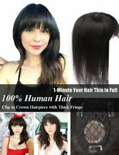 Handmade Mono Straight 100% Remy Human Hair Topper Hairpiece Cover Loss Hair