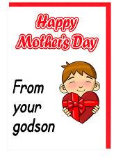 Dios Madre / Mamá - Día de la Madre Tarjeta - de Tu Favorito Ahijado